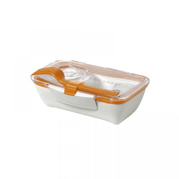 Pojemnik na lunch 500 ml BENTO BOX Black&Blum biało-pomarańczowy BT003