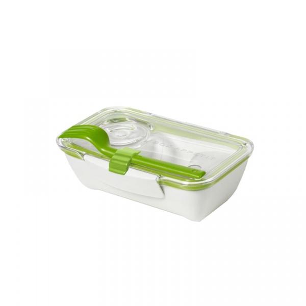 Pojemnik na lunch 500 ml BENTO BOX Black&Blum biało-zielony BT001