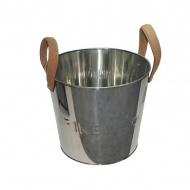 Pojemnik na popiół i drewno 22x22x24 cm Miloo Home Ardent srebrny
