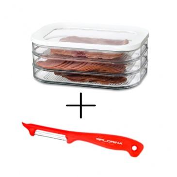 Pojemnik na wędliny i sery Modula trzypiętrowy + GRATIS