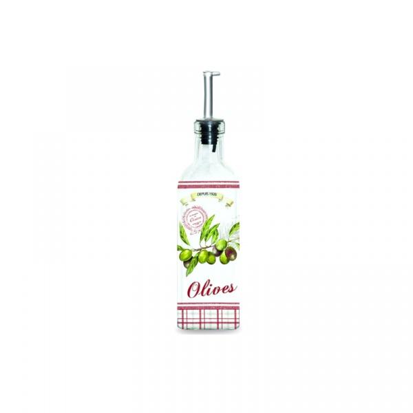 Pojemnik olej/ocet z dozownikiem Nuova R2S Bistrot Olives BOT150 OLIV