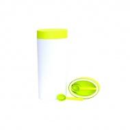 Pojemnik owalny 2 l O'LaLa biało-zielony