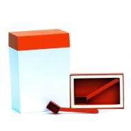 Pojemnik prostokątny 3 l O'LaLa biało-pomarańczowy