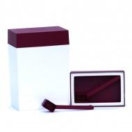 Pojemnik prostokątny 3 l O'LaLa biało-rubinowy