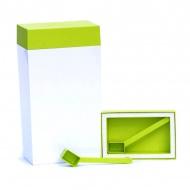Pojemnik prostokątny 4 l O'LaLa biało-zielony