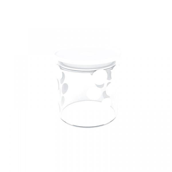 Pojemnik szklany 0,65 L Zak! Design biały 1313-850