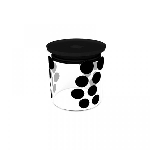 Pojemnik szklany 0,65 L Zak! Design czarny 0015-850