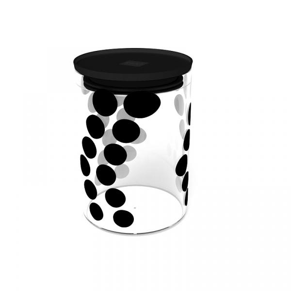 Pojemnik szklany 0,9 L Zak! Design czarny 0015-860