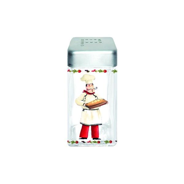 Pojemnik szklany z pokrywą na pieprz Nuova R2S Glass Collection piekarz PEP110 CHE