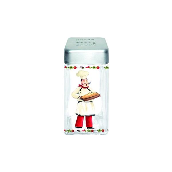 Pojemnik szklany z pokrywą na sól Nuova R2S Glass Collection piekarz SAL110 CHE