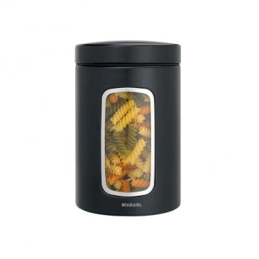 Pojemnik z okienkiem 1,4L Brabantia czarny matowy