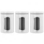 Pojemniki kuchenne z okienkiem 3 szt. 1,4L białe 306068