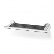 Półka łazienkowa 41x6x14,5cm Zack Scala czarno-srebrna