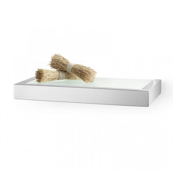 Półka łazienkowa szklana 26,5 cm Zack Linea ZACK-40383
