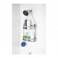 Półka pod prysznic podwójna 9,5x31,8x64,8cm Umbra Flex Shower Caddy szara
