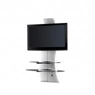 Półka pod TV z maskownicą Ghost Design 2000 z rotacją Meliconi biała