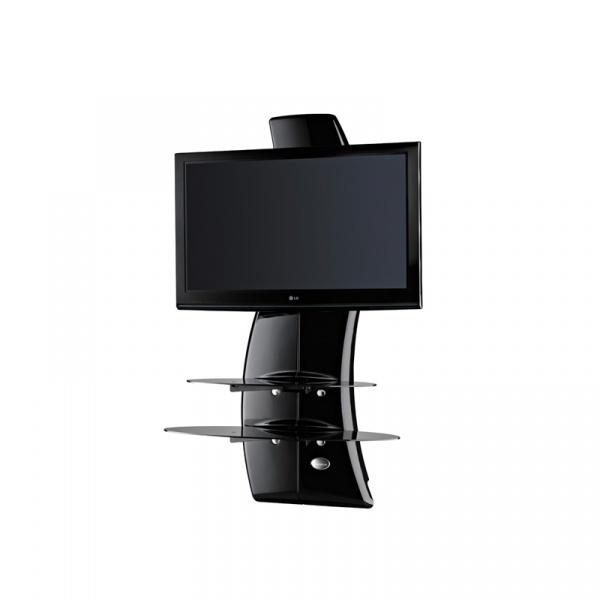 Półka pod TV z maskownicą Ghost Design 2000 z rotacją Meliconi czarna 488086