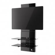 Półka pod TV z maskownicą Ghost Design 3000 Meliconi czarna