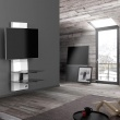 Półka pod TV z maskownicą Ghost Design 3000 Meliconi biała 488301BA