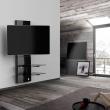Półka pod TV z maskownicą Ghost Design 3000 z rotacją Meliconi czarna 488310BA