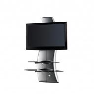 Półka pod TV z maskownicą Meliconi Ghost Design 2000 z rotacją srebrna