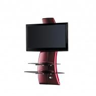 Półka pod TV z maskownicą Meliconi Ghost Design 2000 z rotacją czerwona