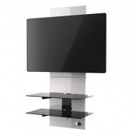 Półka pod TV z maskownicą Meliconi Ghost Design 3000 biała