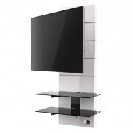Półka pod TV z maskownicą Meliconi Ghost Design 3000 z rotacją biała