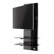 Półka pod TV z maskownicą Meliconi Ghost Design 3000 z rotacją czarna