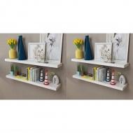 Półki ścienne, 4 szt., białe, 100 cm