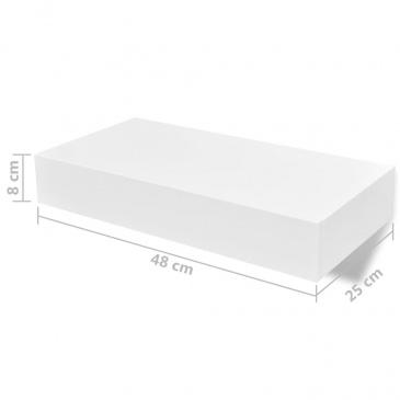 Półki Wiszące Z Szufladami 2 Szt Białe 48 Cm