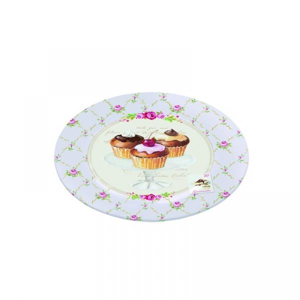 Półmisek szklany 15 cm Nuova R2S Nostalgie muffinki 636 SWEE