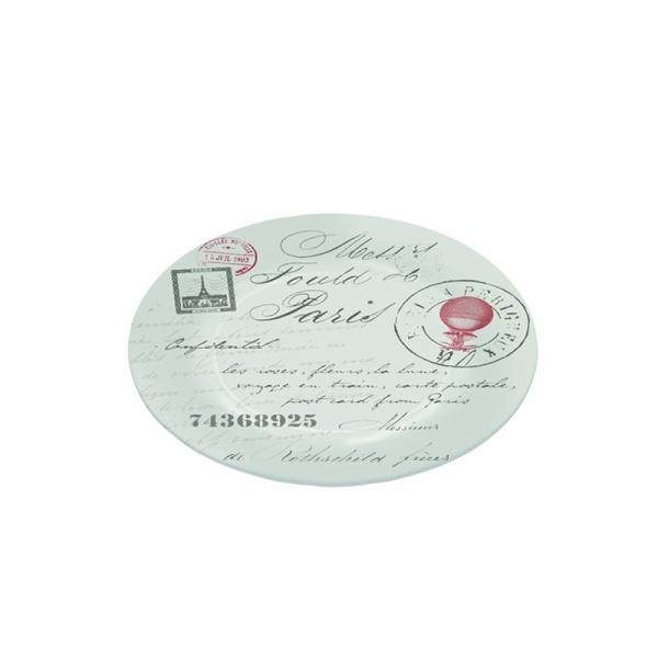 Półmisek szklany 15 cm Nuova R2S Nostalgie pocztówka z Paryża 636 WRIT