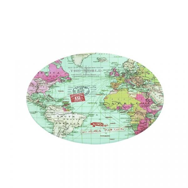 Półmisek szklany Nuova R2S Nostalgie mapa 635 MAPS