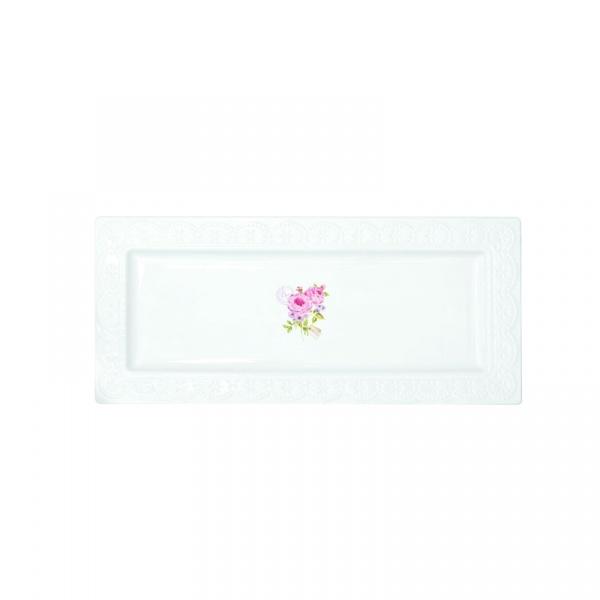 Półmisek z porcelany 36x16cm Nuova R2S La Belle Maison różowe piwonie 1029 RSE