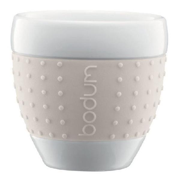 Porcelanowe kubki 0,25 l Bodum Pavina białe 2 szt. BD-11184-913