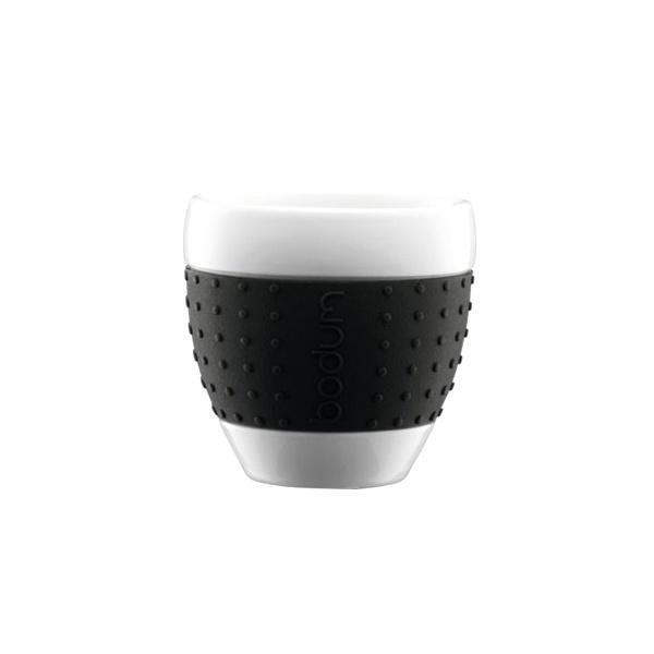 Porcelanowe kubki 0,25 l Bodum Pavina czarne 2 szt. BD-11184-01