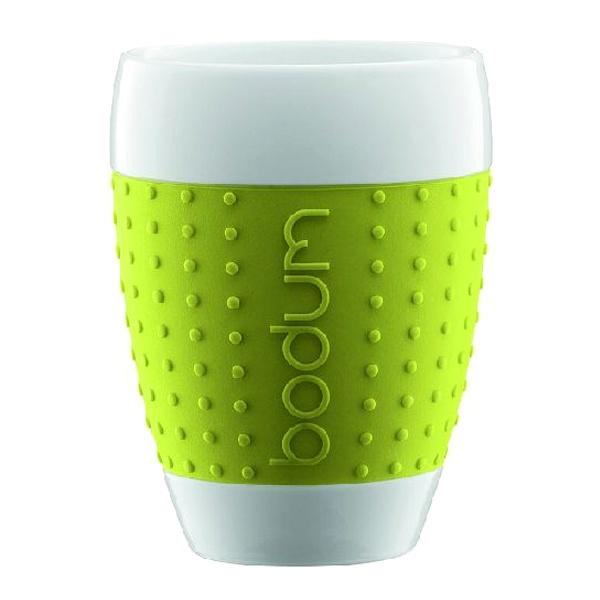 Porcelanowe kubki 0,4 l Bodum Pavina 2 szt. zielone BD-11156-565
