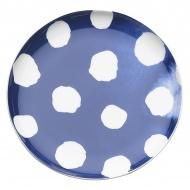 Porcelanowe naczynie na przystawki w kropki 15,5 cm Nuova R2S Indigo niebieskie