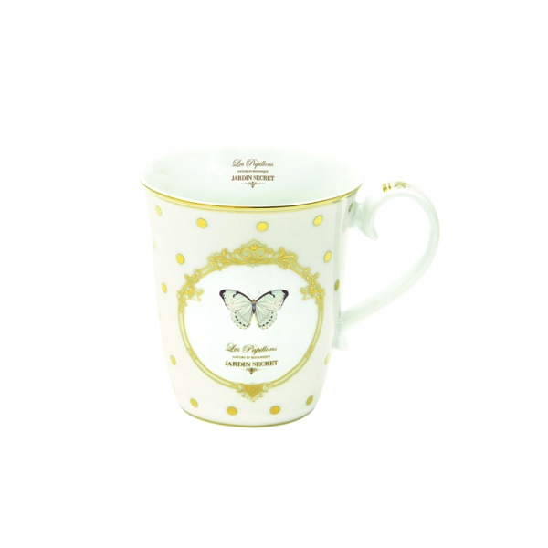 Porcelanowy kubek Nuova R2S Elegance motyl 1101 DOB