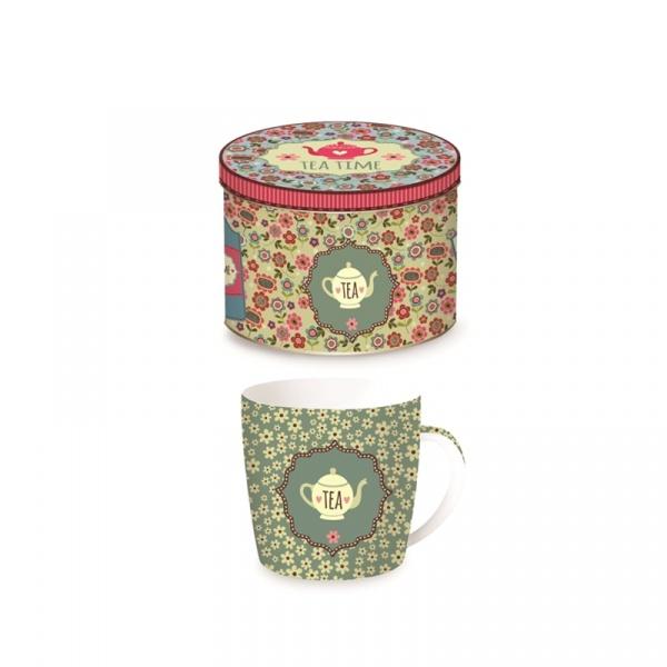 Porcelanowy kubek w blaszanym pudełku 350 ml Nuova R2S Happy Life 217 TEAG