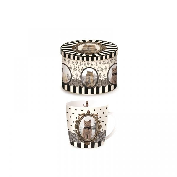 Porcelanowy kubek w blaszanym pudełku Nuova R2S Happy Life 217 CATB