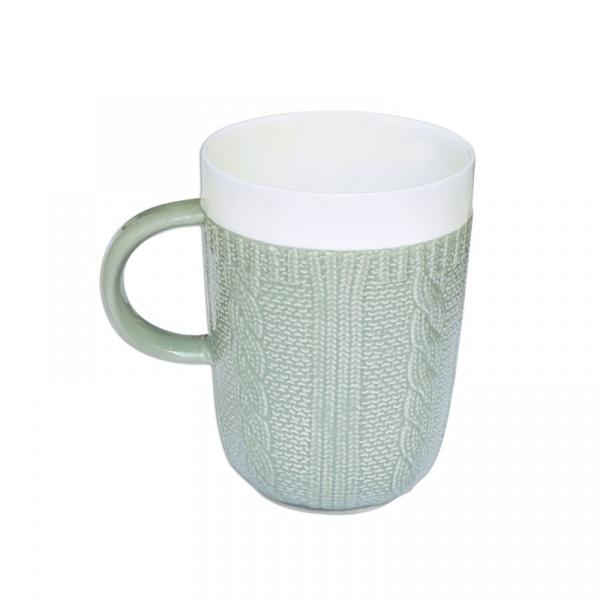 Porcelanowy kubek w opakowaniu Nuova R2S Wool szary 007 GREY