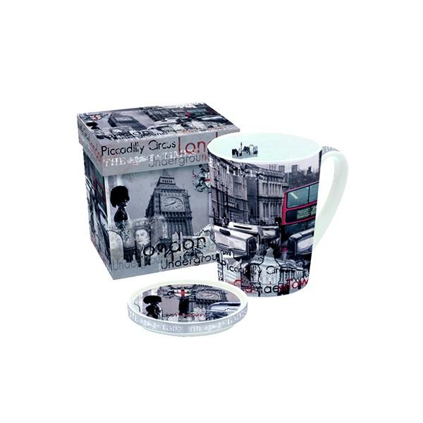 Porcelanowy kubek z przykrywką Nuova R2S Easy Life 220 LON