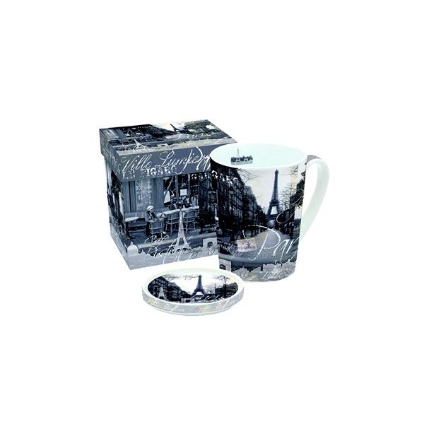 Porcelanowy kubek z przykrywką Nuova R2S Easy Life 220 RIS