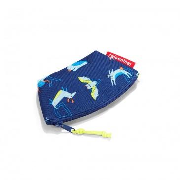 Portmonetka coin purse kids abc friends blue