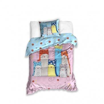 Pościel 160x200+70x80cm CARBOTEX Koty Sweet Dreams CAT171001
