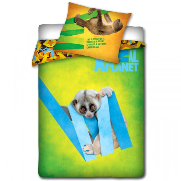 Pościel Lemur 160 x 200 cm Carbotex Animal Planet 5907629306986