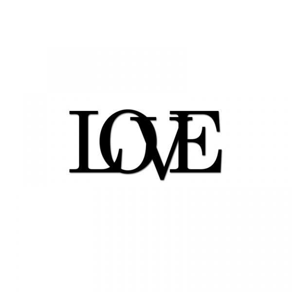 Próbka napisu 3D dekoracyjnego na ścianę LOVE DekoSign LOVE4-1