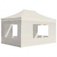 Profesjonalny, składany namiot ze ścianami, 4,5x3 m, aluminiowy